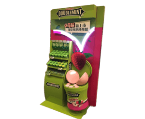 Mars Wrigley-Double Mint Candy Display Backwall