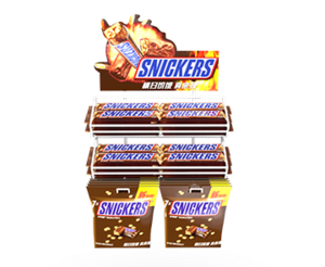 Mars Wrigley-Snickers Wire Countertop Racks For Retail Stores