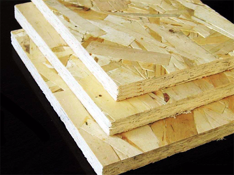 OSB (structure) boards used as roof or wall