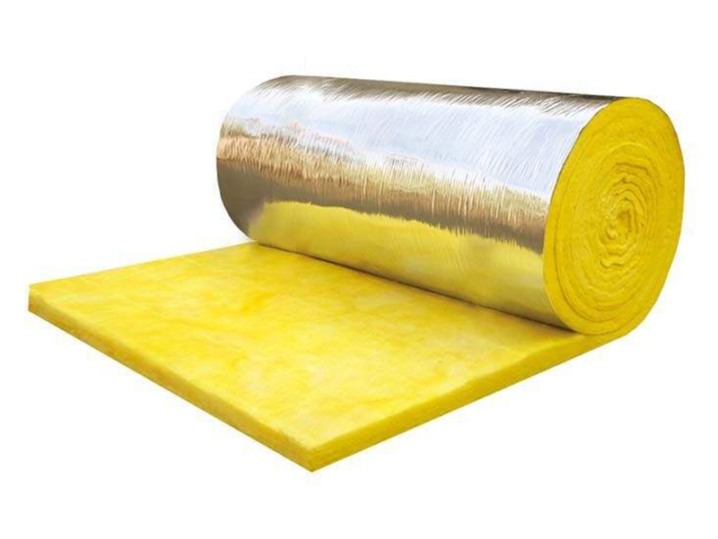 Glass Wool Flet (with alu-foil) used as the heat insulation layer for roof & wall