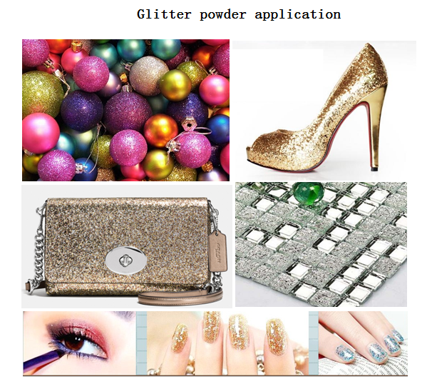 rainbow glitter powder