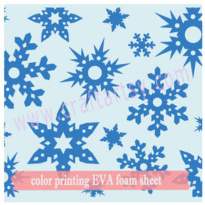 Craft EVA foam blad met colour print