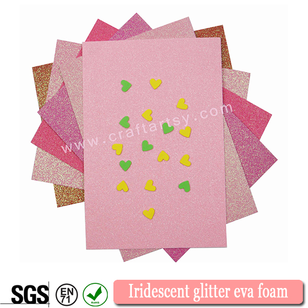 Textured Iridescent eva foam sheets