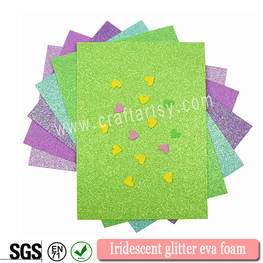 Colorful Iridescent glitter eva sheets