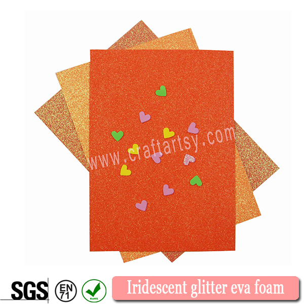 Textured Iridescent splendeat spuma Eva