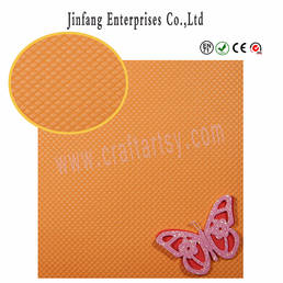 Embossed weefpatroon eva foam sheet