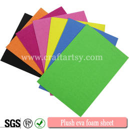 becautiful kleur pluche eva foam sheet