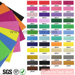 color charts for Plush EVA foam sheets