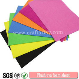 Blue color chart for plush eva foam sheet