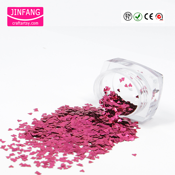 Heart shape Metallice PET Glitter  Powder