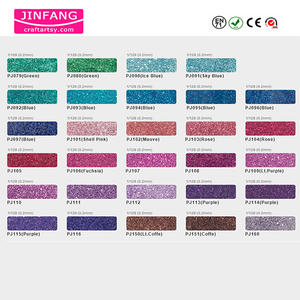 Glitter PET pulveris color chart in METALLICUS