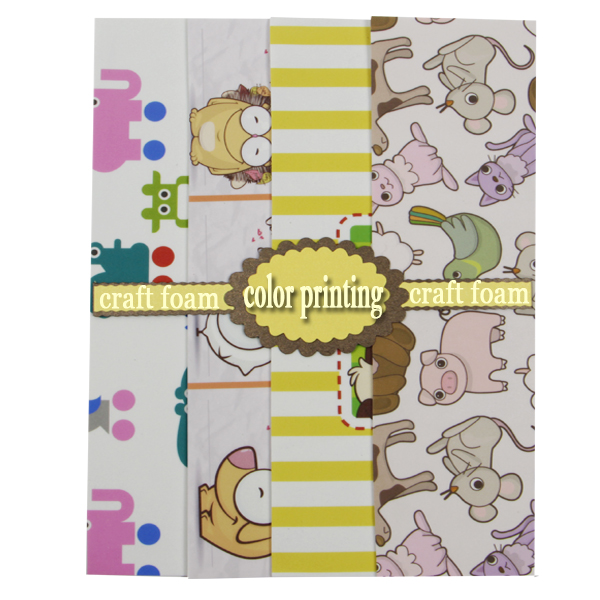 feuille de mousse Craft eva avec impression flocon jaune