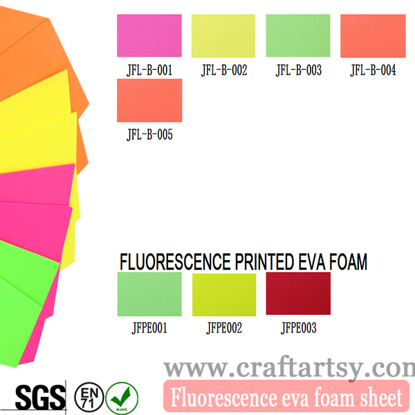 Colorful eva Fluorescent foam ishidi