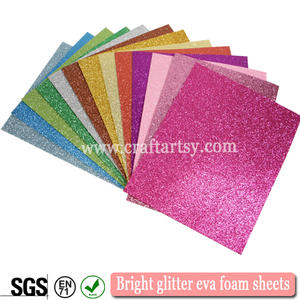 Glitter christmas spuma multi-color Eva