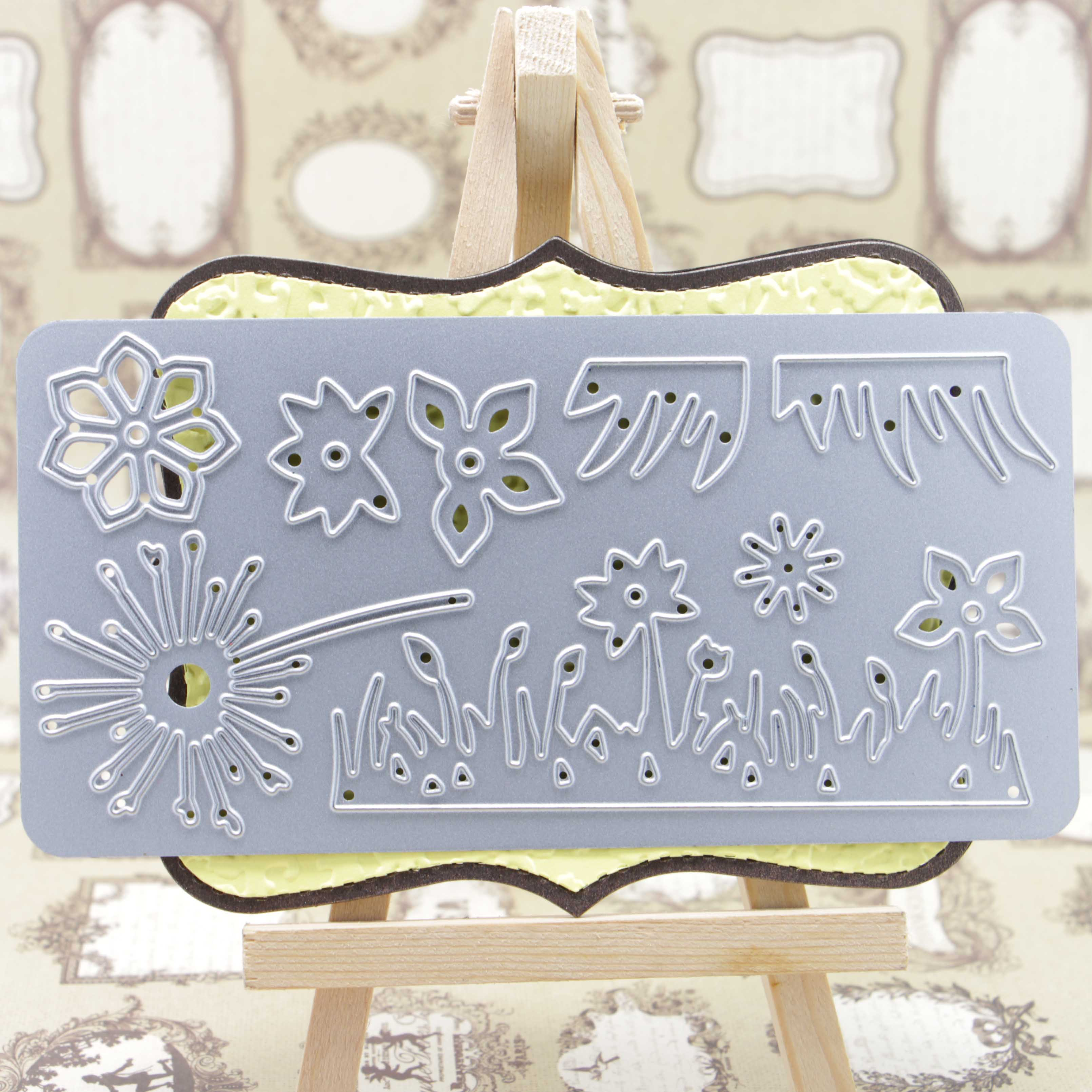 Paper craft cutting die for more flowers pattern