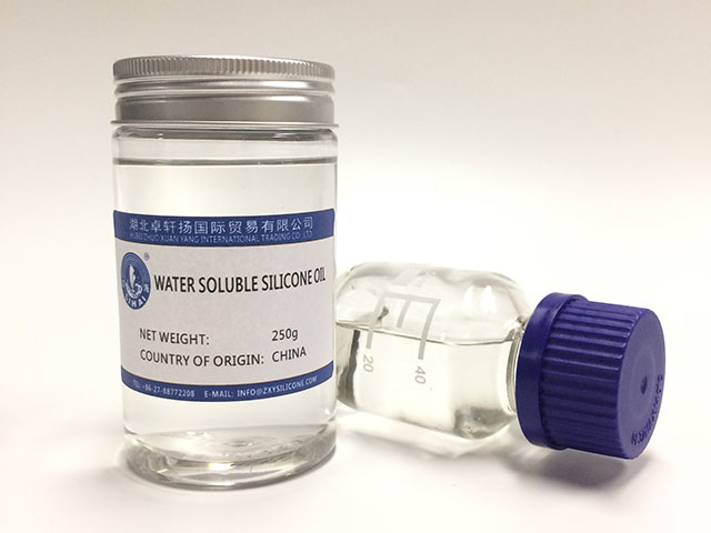 Water soluble silicone oil slipping agent