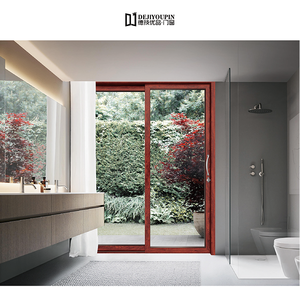 high quality D136D Aluminium double sliding doors supplier