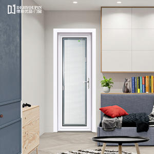 Aluminum casement door has good ventilation.