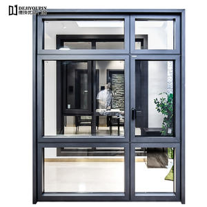 high quality 142 Series aluminum casement windows manufacturer