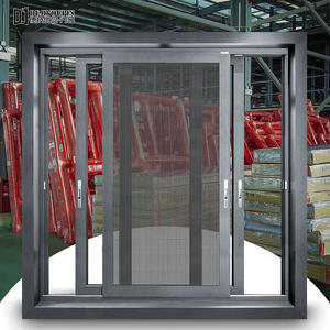 105 Series Thermal Break Aluminum Sliding Windows With Flyscreen