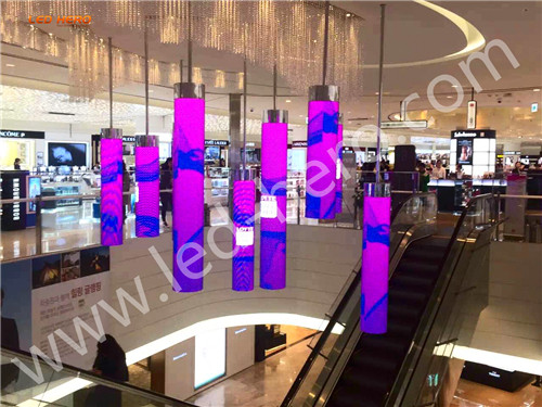P10 transparent led display in Zeju Island