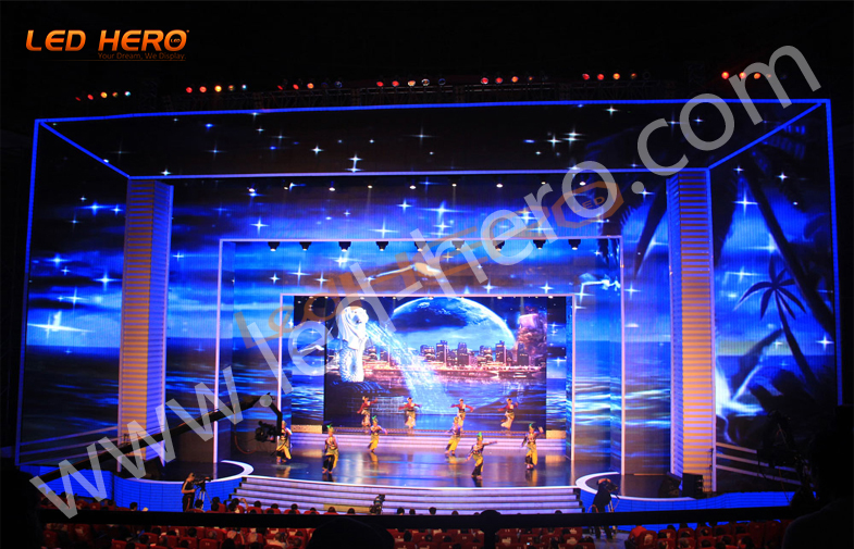 P31.25 indoor led mesh display in Hunan
