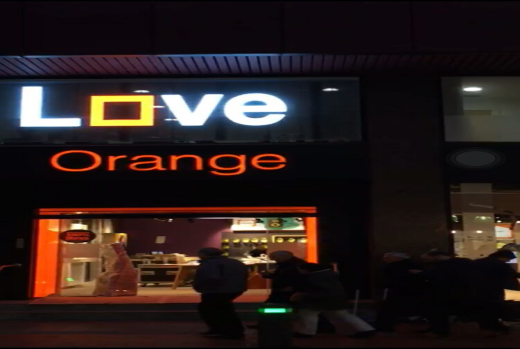 LED-HERO's France's largest operator Orange stunning in Barcelona