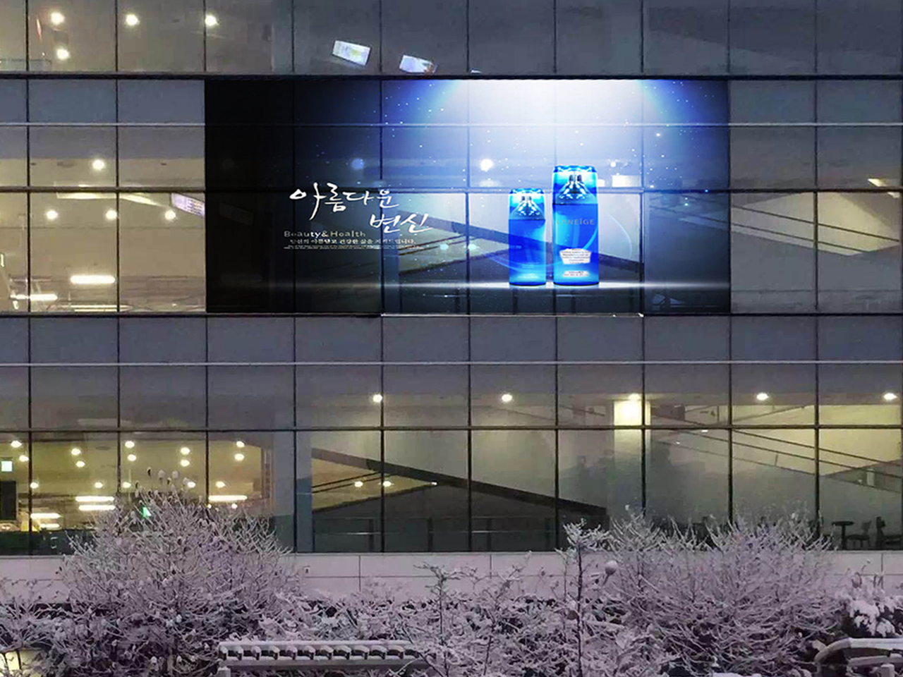 P10 transparent led display in Korea