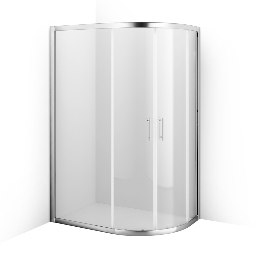 Roller Door Offset Quadrant Shower Enclosure