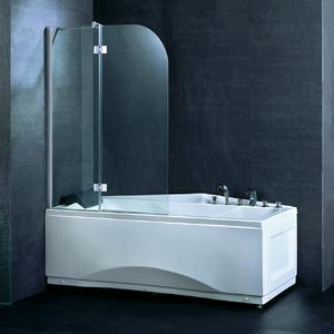 BS02 Double Fold Bathtub Shower Screen