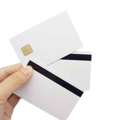 EM Blank White RFID Card with Magnetic Stripe
