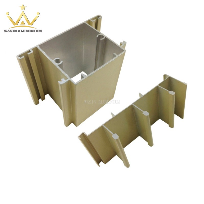 Powder coating aluminum profiles section for windows and doors in good price
