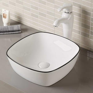 Oval Vessel Sink Without Faucet Hole