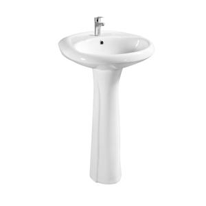 Back To Wall Floor Stand Up Bathroom Sink