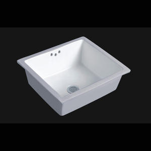 Vitreous China Rectangular Under-mount Bathroom Sink
