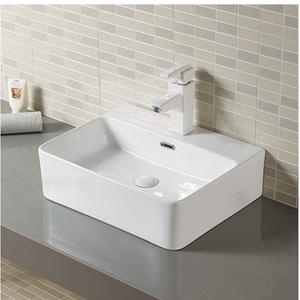 Lavatory Porcelain Small Square Vessel Sink
