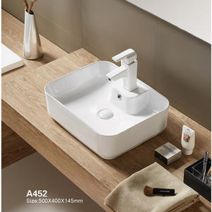 Porcelain Vanity Large Corner Bathroom Sink
