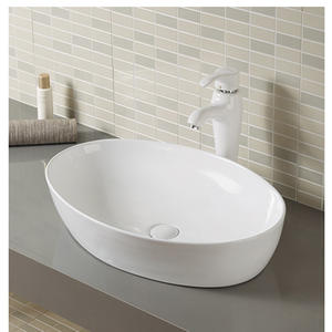 Boat Shape Cabinet Top Large Basin Bathroom Sink