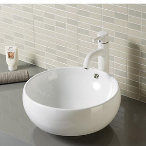 Round counter top lavatory wash basin bowl