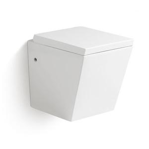Square Toilet With Flush Button On Top