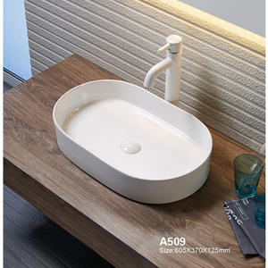Oval porcelain bathroom wash basin
