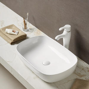 Large size bathroom ceramic vessel sink