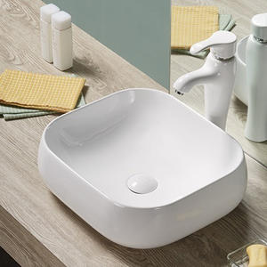 Vanity Top White Color Hand Wash Basin On Table