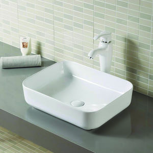 Rectangular Wash Basin With Pedestal