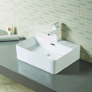 Rectangular Porcelain Lavatory Wash Basin