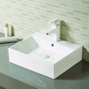 Ceramic Rectangular Wash Basin With Stand