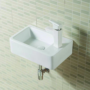 Wall Hung Rectangular Small Bathroom Vessel Sink