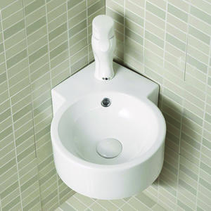 Corner Wall Hung Small Bathroom Pedestal Sink