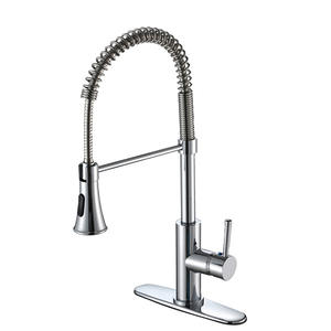 Large Size Pull-down Spout Kitchen Sink Water Faucet With Single Handle