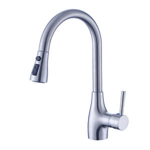 Brass Single Hole Kitchen Faucet With Sprayer